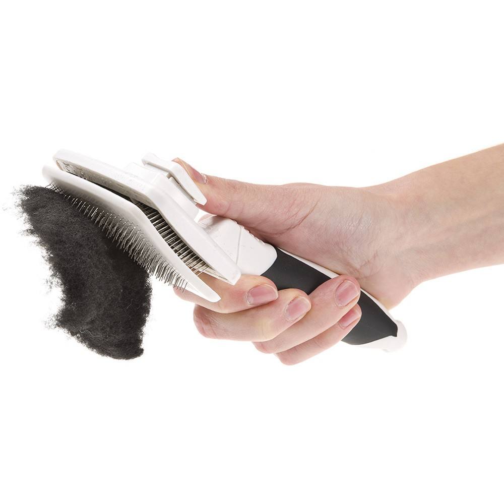 Carder with Built-in Brush