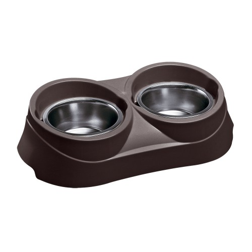Bowl Holder with Steel Bowls
