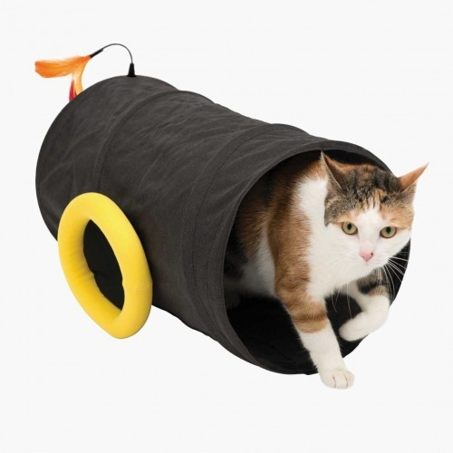 Cannon-Shaped Cat Tunnel
