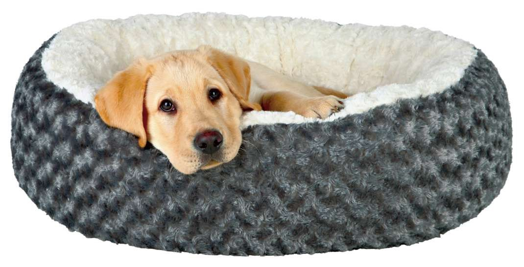 Cuddly Plush Round Bed