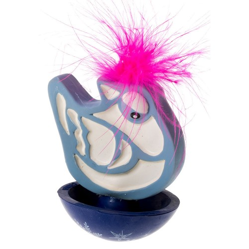 Latex and Rubber Cat Toy with Feathers