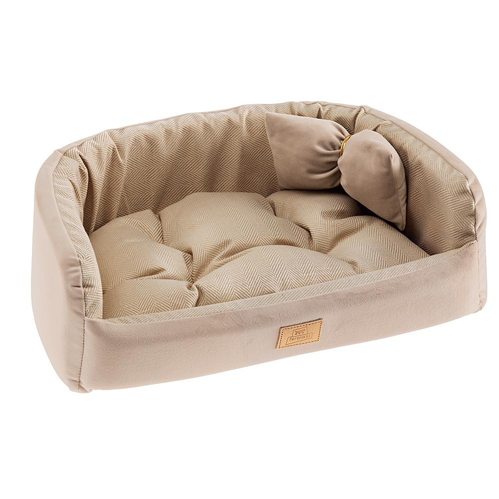 Velvet Kennel with Cushion