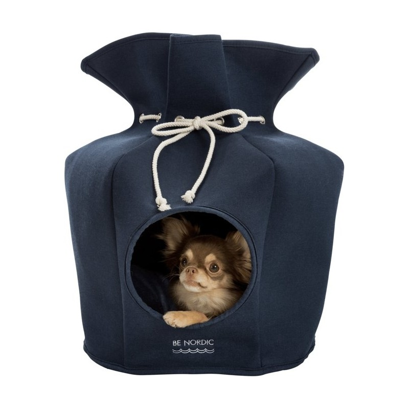 Navy Lovely Igloo Dog House