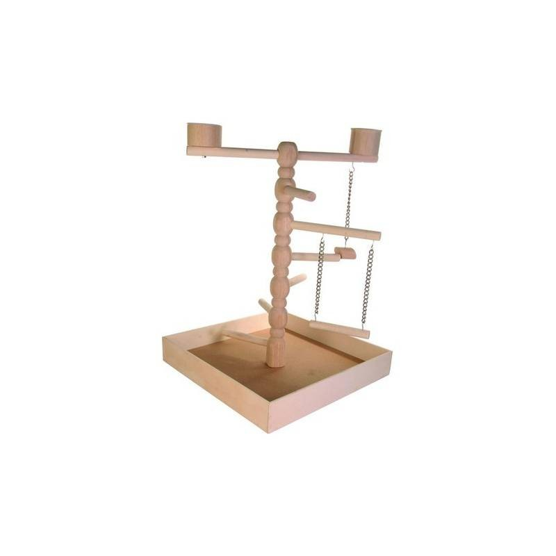 Parakeets Wooden Playground