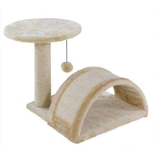 Cat Scratching Post with Tunnel, Shelf and Toy