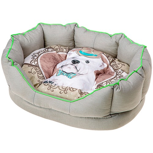 Flowery Dog Bed