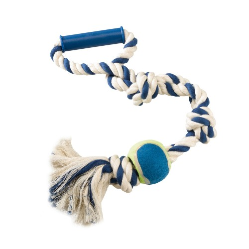 Dental Rope in Knotted Cotton with Handle and Ball