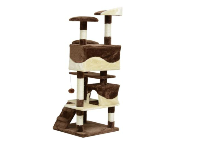 Maroon Exploration Cat Tree