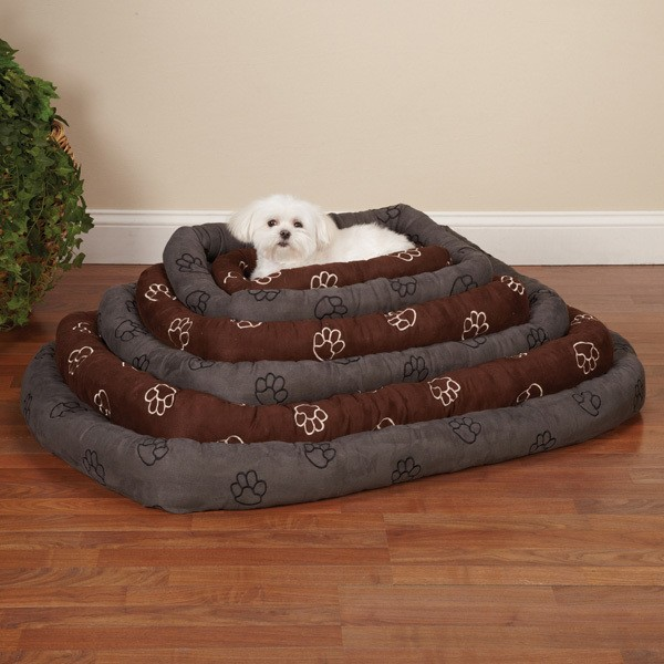 Paw Pattern Dog Bed