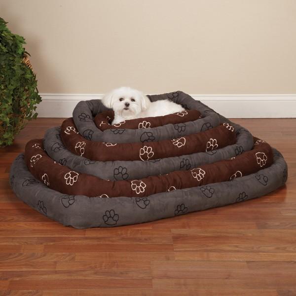 Paw Pattern Dog Bed