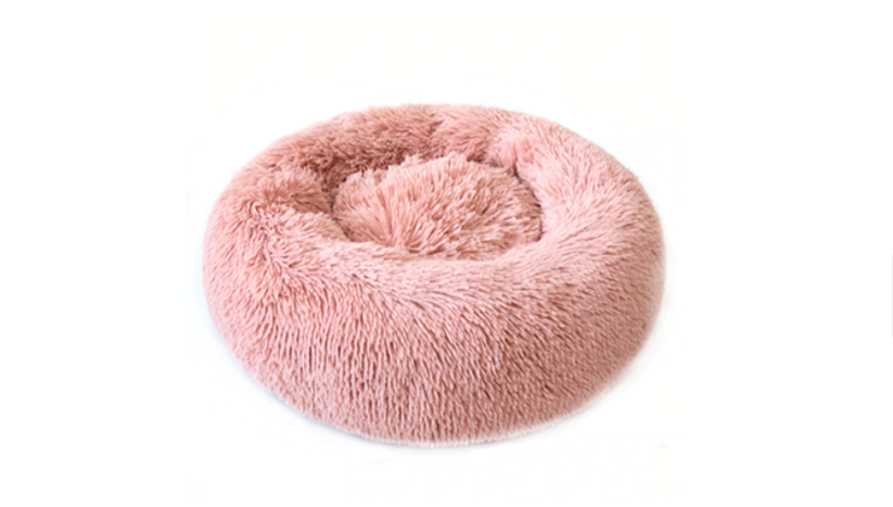 Fluffy, Warm, Round Pink Bed