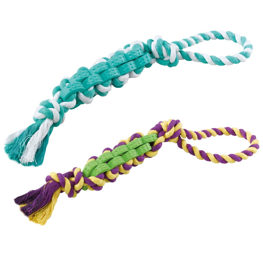 Dog Toy in Cotton and Hard Rubber