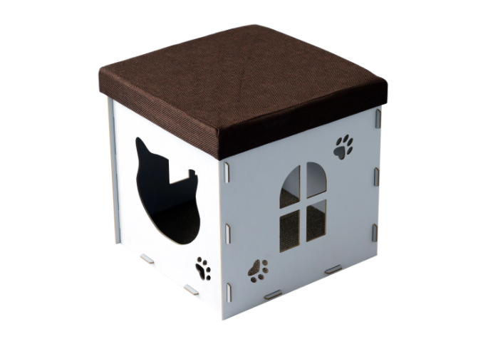 Cat House with Cardboard Base Inside