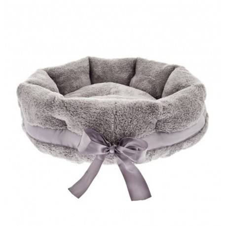 Soft Bow Dog Bed