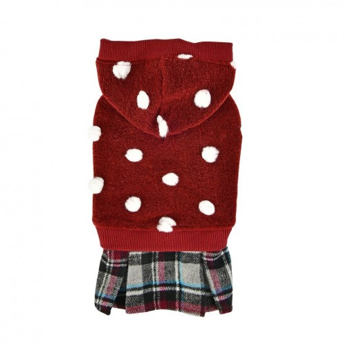 Dotty Sweater with Tartan Skirt