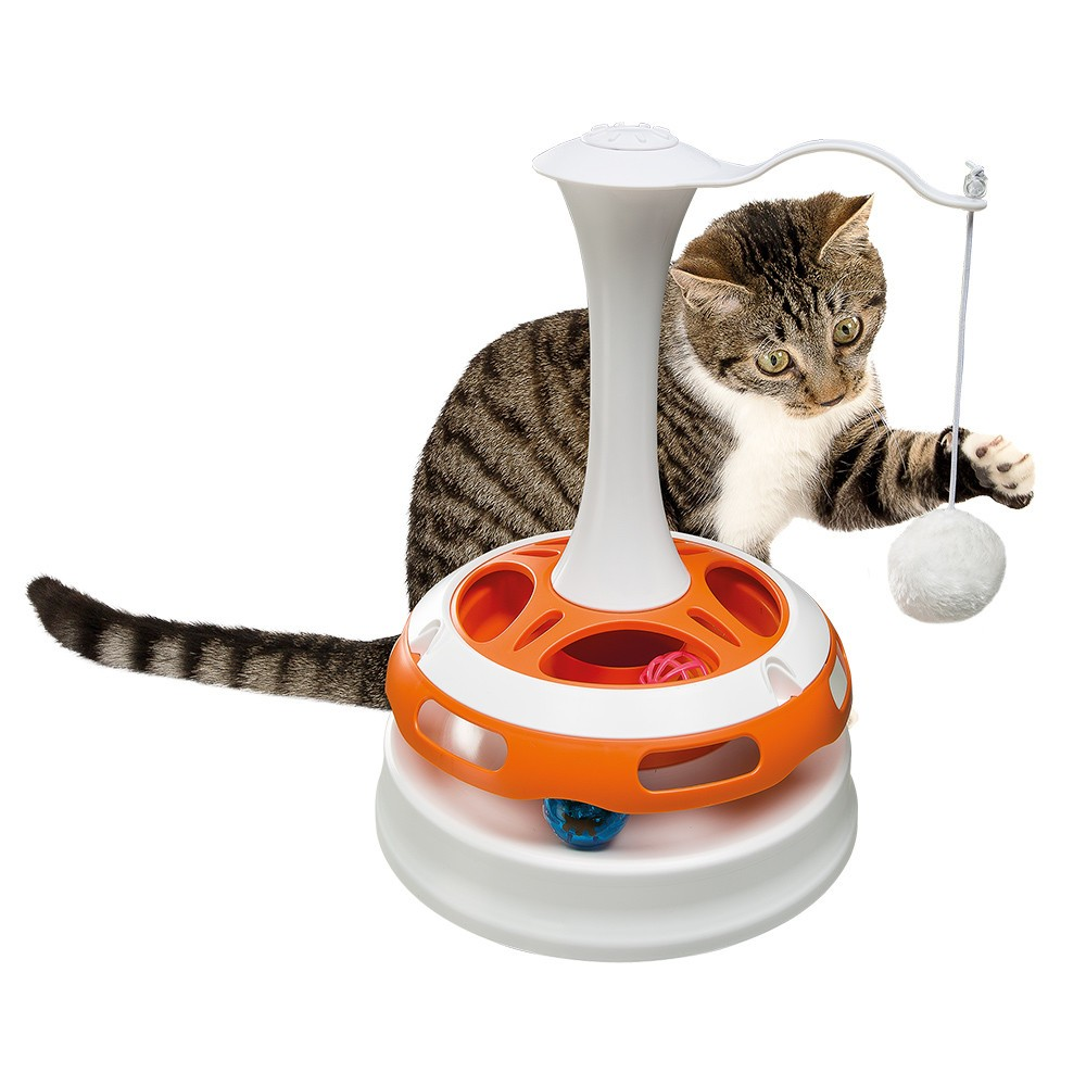 Carousel-Shaped Cat Toy