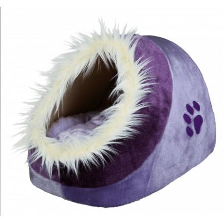 Fluffy Violet Cat Bed