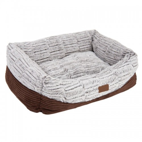 Brown Bed with Memory Foam