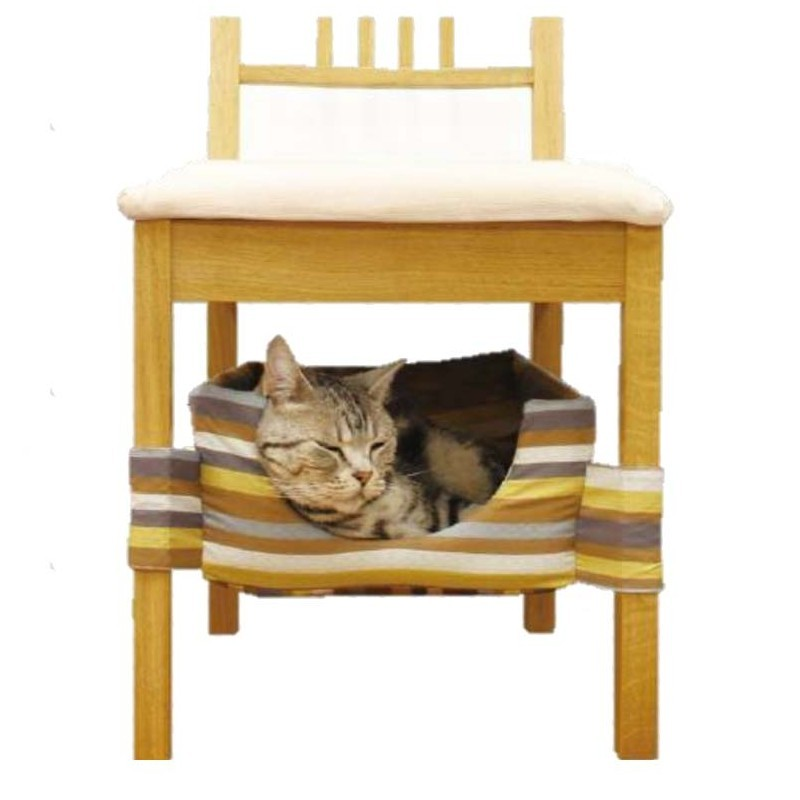 Striped Kennel Under Chair for Cats