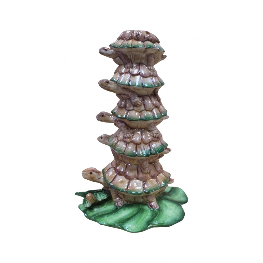 Candle Holder as a Tower of Turtles