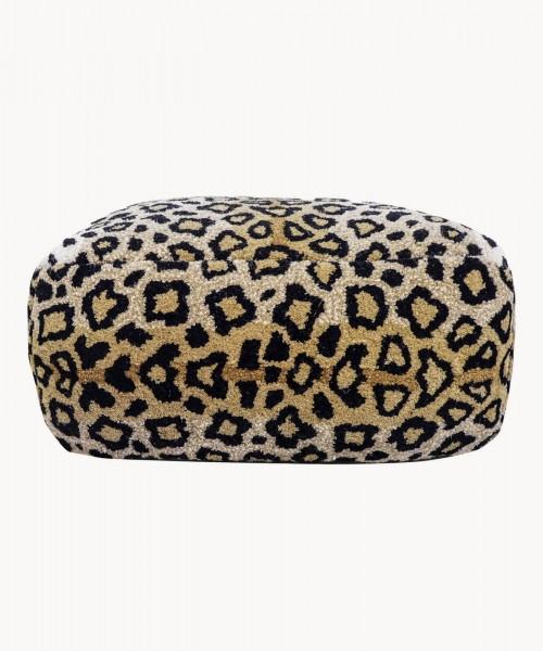 Leopard Print Pouf