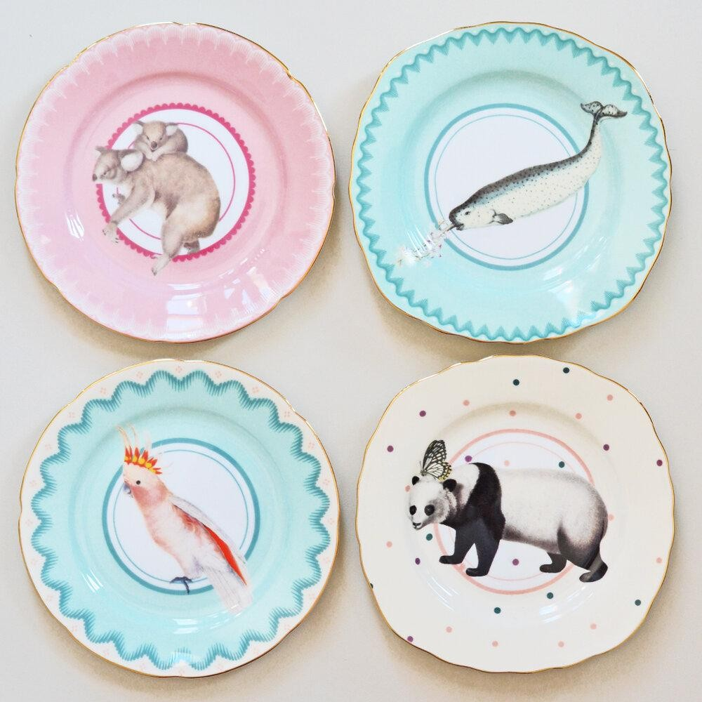 Animal Print Lovely Cake Plates