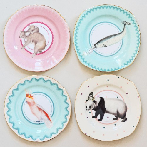 Animal Print Lovely Cake Plates