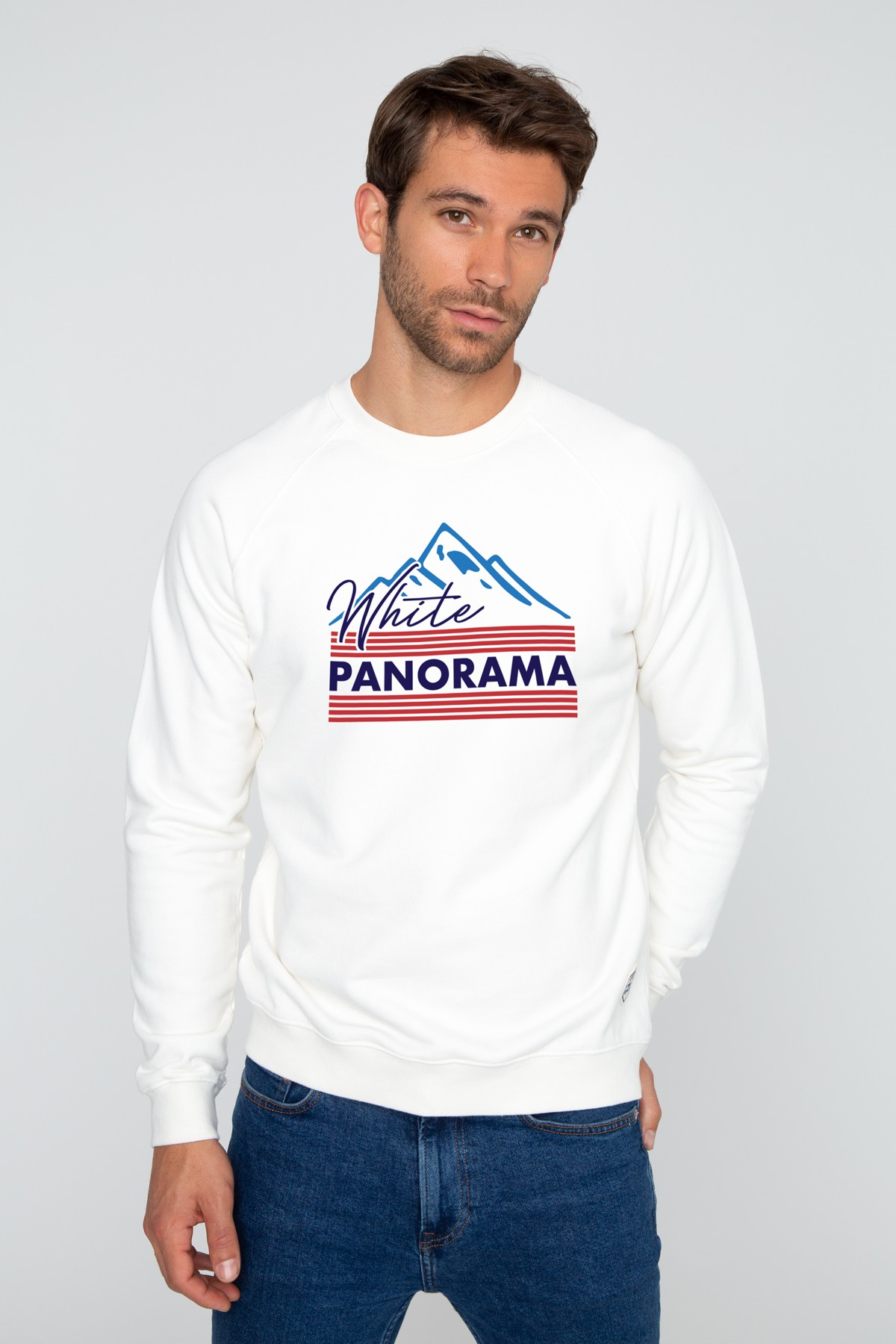 Men's Sweatshirt White Panorama