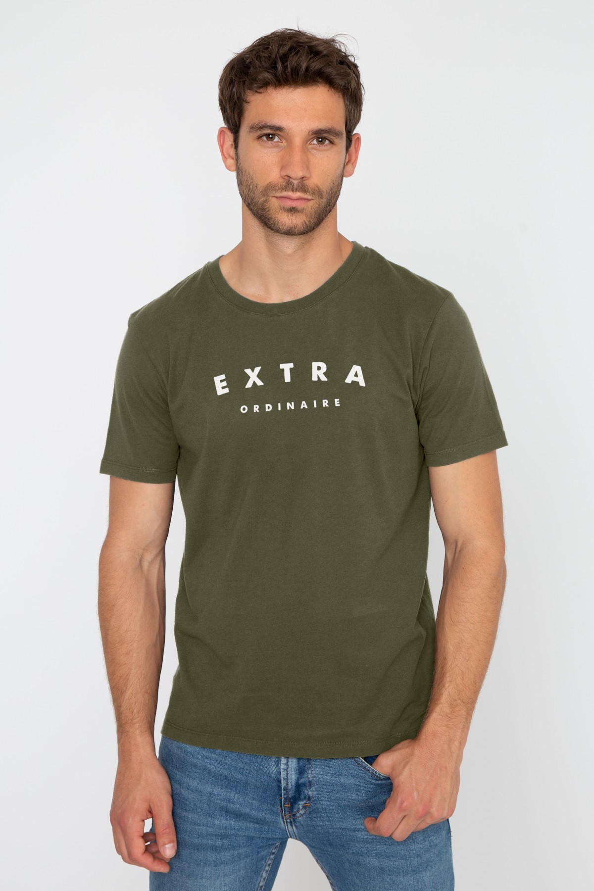 Men's Round Neck T-shirt Extra