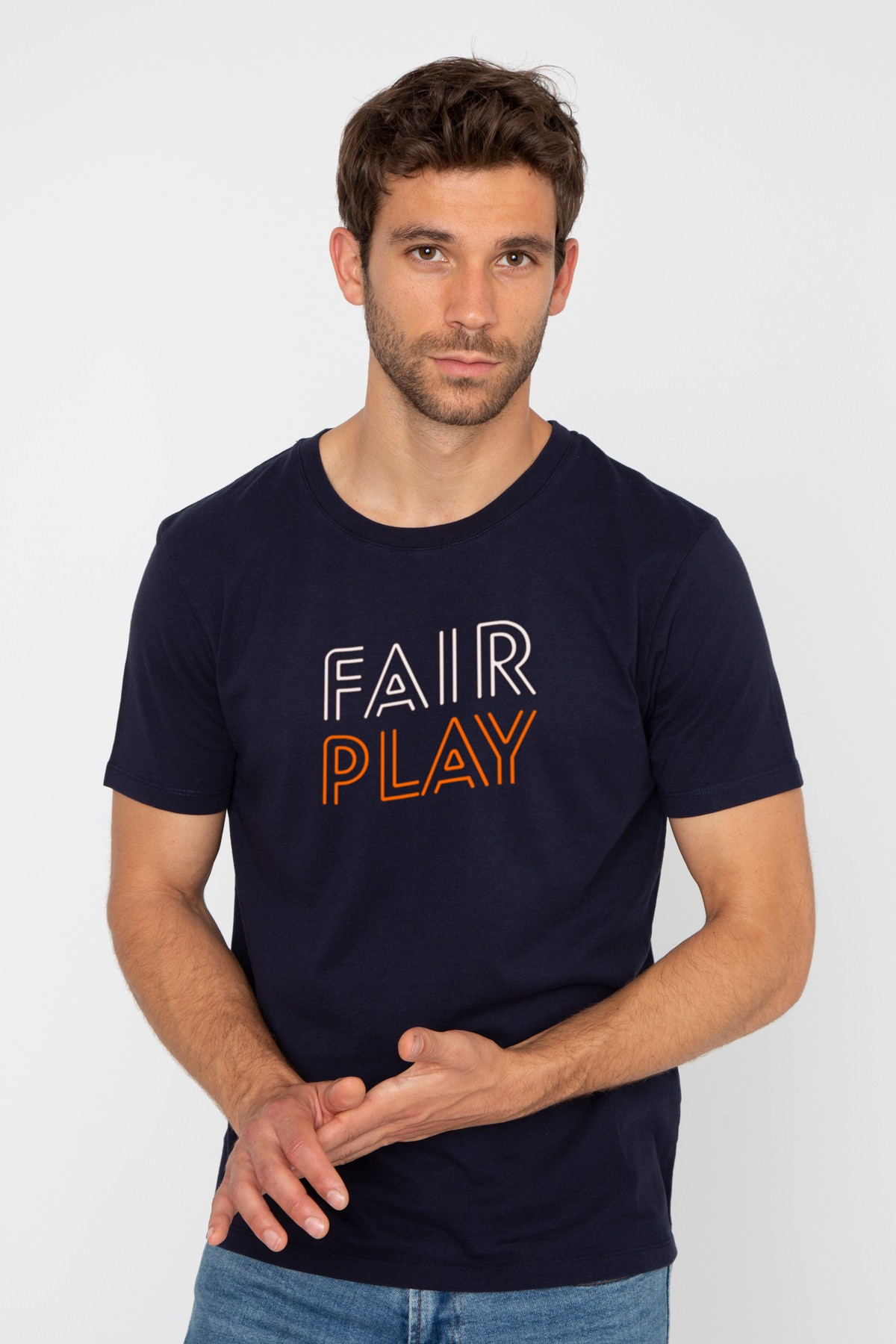 Men's Round Neck T-shirt Fair Play