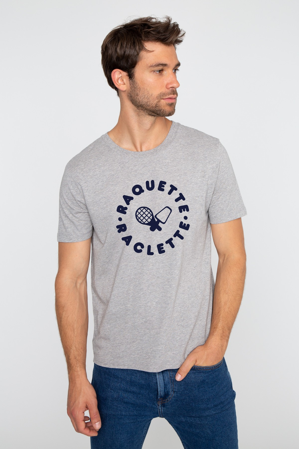 Men's T-shirt Racket Raclette