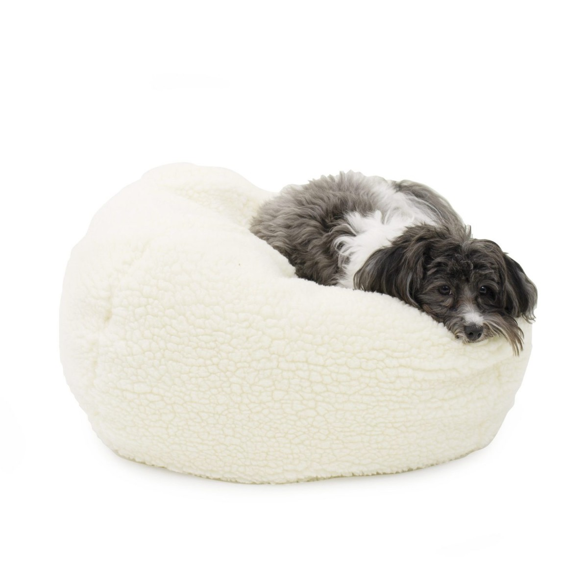Cozy Cheeky Pouf in Sherpa