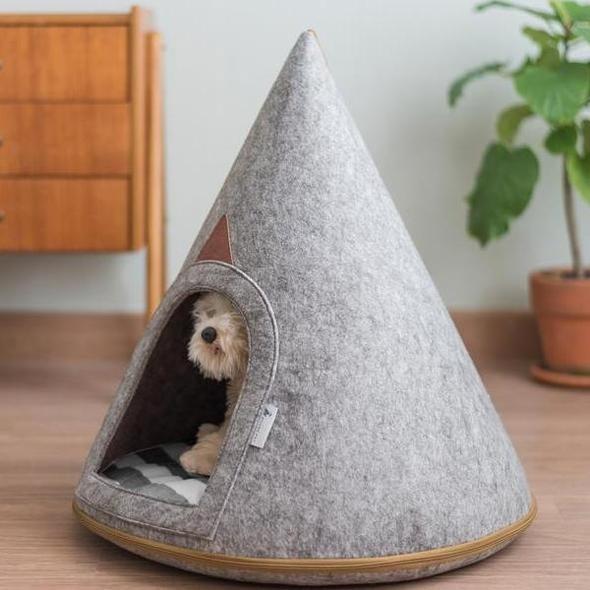 Cute Soft Grey Dog Cave (Small)