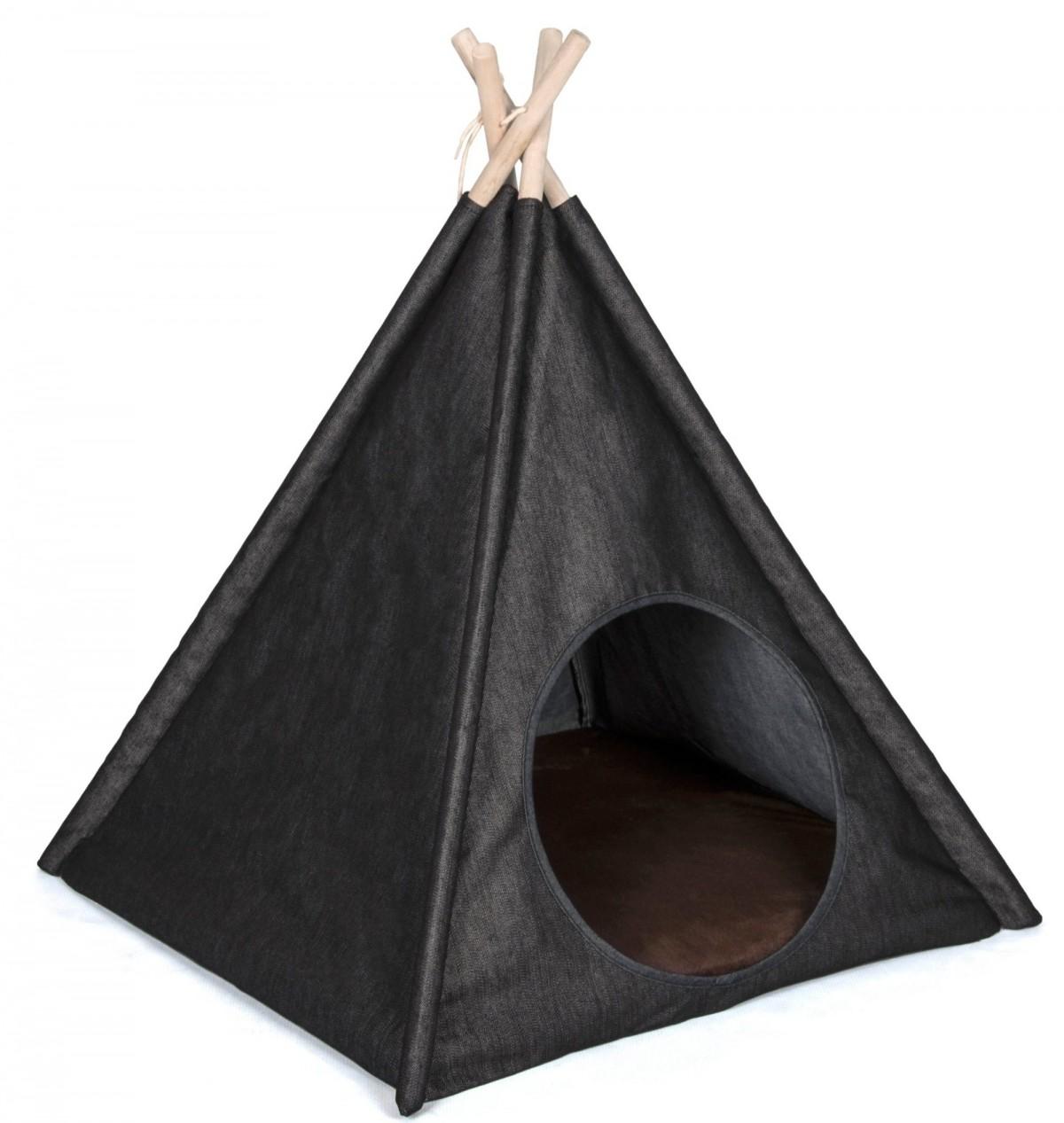 Cozy Denim Pet Tent