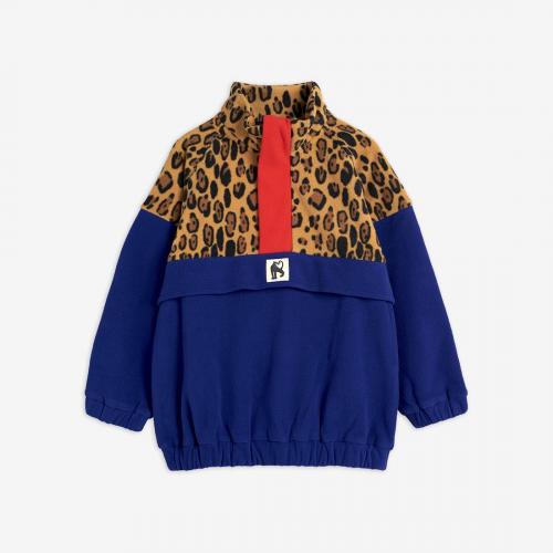 Sweet Leopard Fleece Zip Pullover