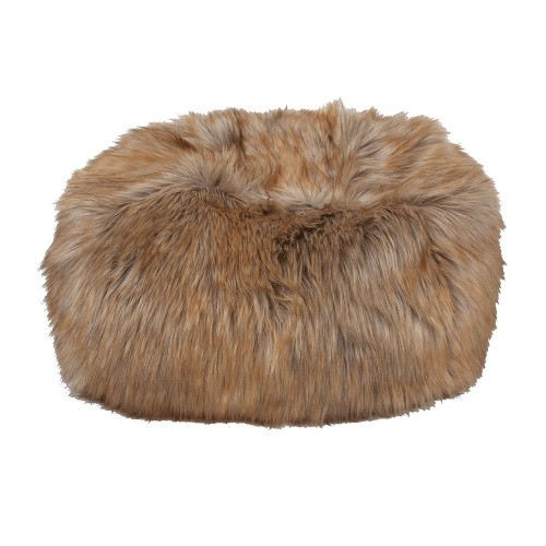 Comfortable Cheeky Pouf in Faux Fur