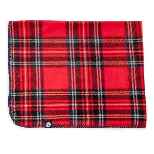 Comfortable Red Tartan Plaid Fleece Blanket