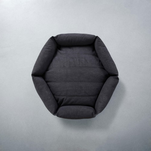 Cute Rugged Canvas Hex Cushion in Shadow