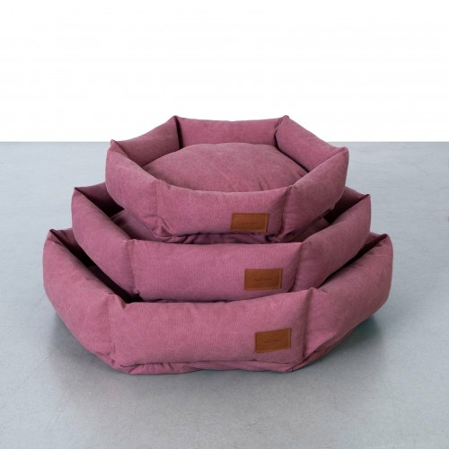 Soft Rugged Canvas Hex Cushion in Sunset