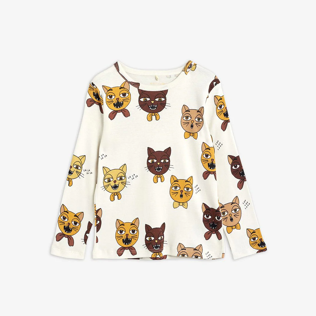 Fluffy Cat Choir Long sleeve T-shirt