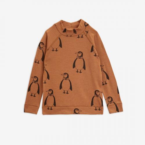 Beautiful Penguin Wool Long Sleeve T-shirt