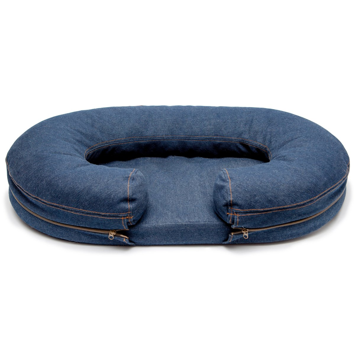 Safe Denim Bolster Bed