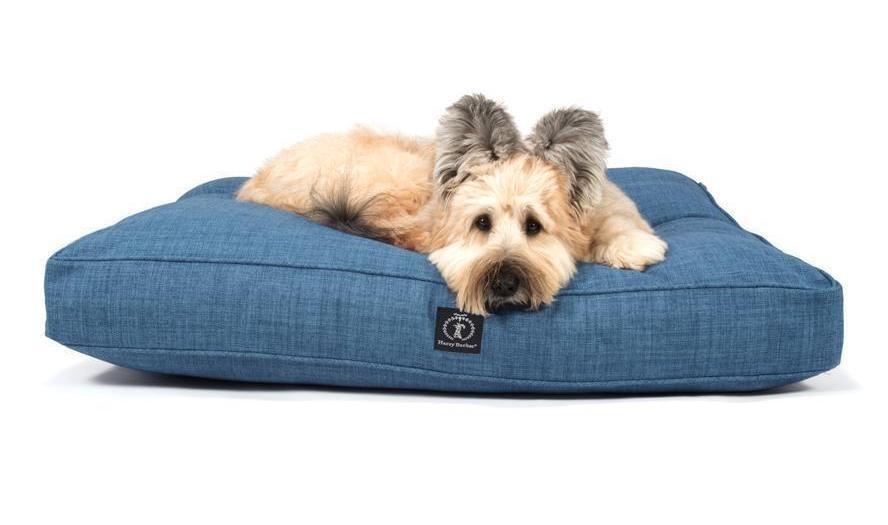 Warm Rectangular Bed in Heather Blue