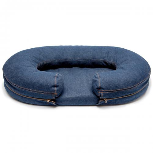 Safe Denim Bolster Bed