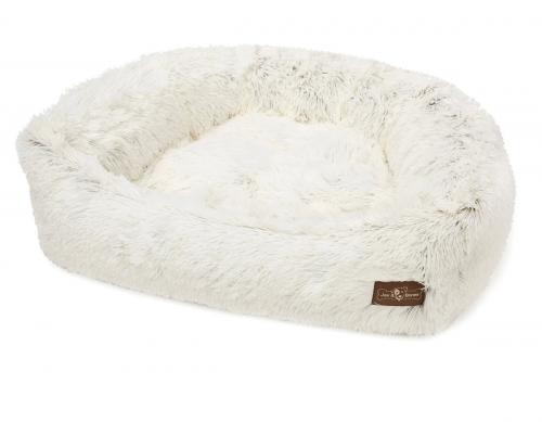 Cozy Napper Bed in Arctic Shag