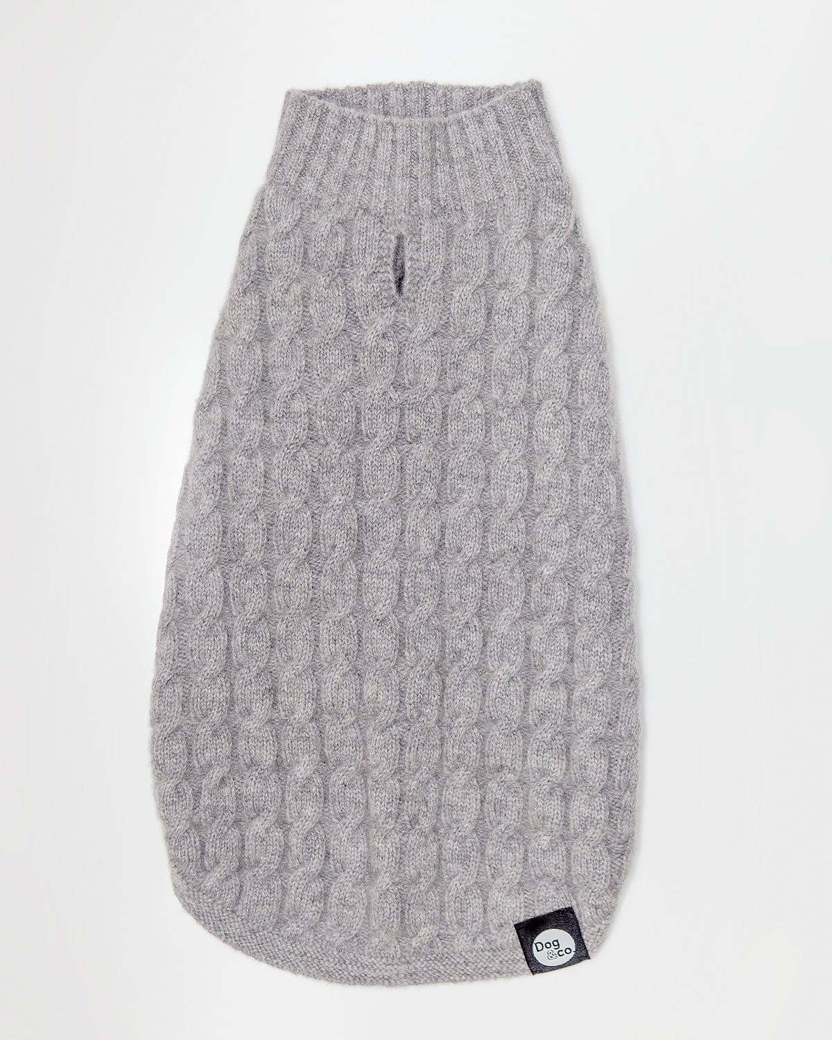 Soft Cashmere Cable Knit in Brume Grey