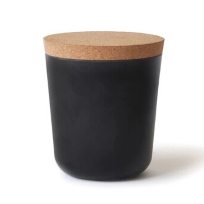 Elegant Storage Jar in Black