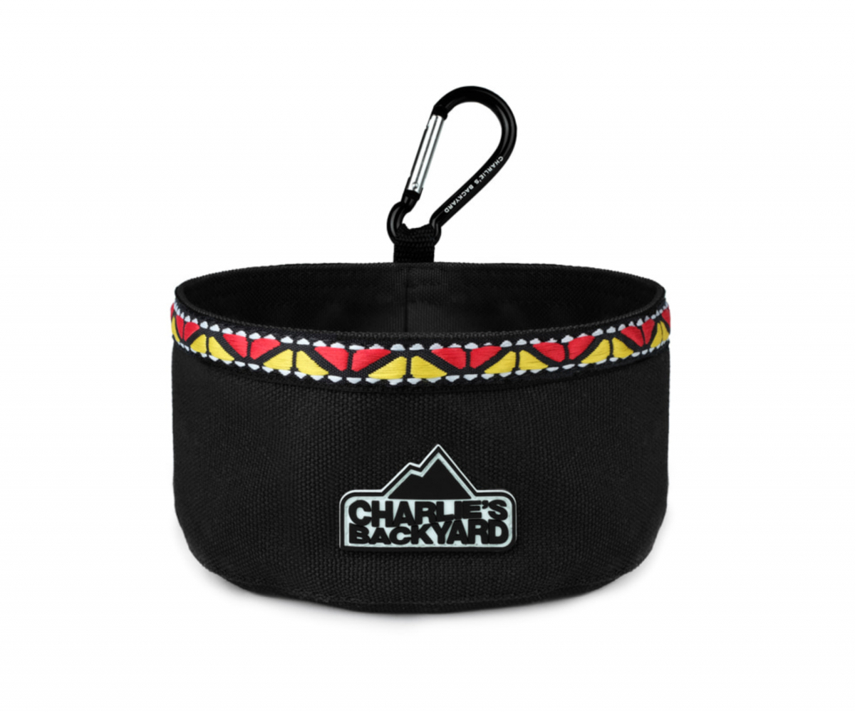 Portable Food & Water Bowl in Black