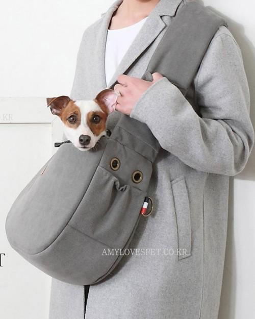 Cozy Crossbody Bag in Grey