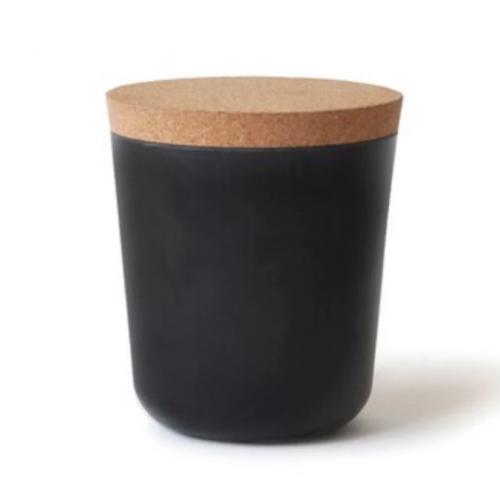 Elegant Storage Jar in Black
